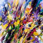 """Abstract flower painting"" by zampedroni"