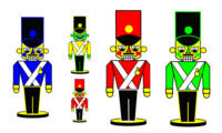 5 Nutcracker Soldiers colors