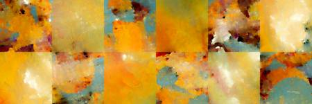 Sunset Abstract Tiles. Modern Mosaic Tile Art Pain