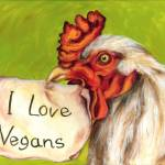 """I Love Vegans!"" by hirokosakai"
