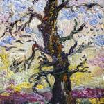 """Old Oak Tree Impressionist Oil Painting"" by GinetteCallaway"