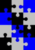 Black and Blue Puzzle