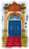 Bygholm Manor House the Front Door_Painting