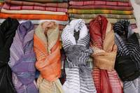 Patterned Scarves at the Market