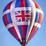 """Hot Air Balloon with Union Jack British Flag"" by lillisphotography"