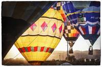 Hot Air Balloons Lift Off at Dawn