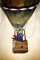 Hot Air Balloon as Pilots Wave Goodbye