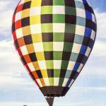 """Hot Air Balloon with Gingham Plaid Pattern"" by lillisphotography"