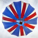 """Hot Air Balloon with British Flag Colors"" by lillisphotography"