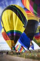 Hot Air Balloons All Come Down