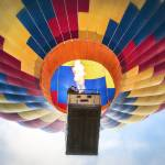 """Hot Air Balloon Close Up with Burners Ablaze"" by lillisphotography"