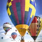 """Hot Air Balloons Land Together"" by lillisphotography"