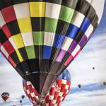 """Hot Air Balloons Stacked in the Air"" by lillisphotography"