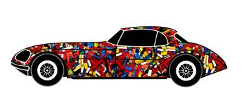LONVIG RETRO Car with Bricks a renewed design of C