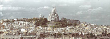 Paris with Sacre Coeur in the Center