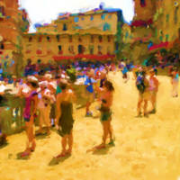 Palio in Siena_Painting