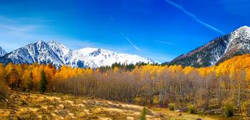 Colorado Rocky Mountain Independence Autumn Pano 1