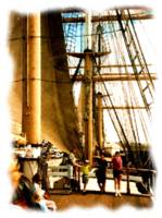 Tall Ship at the Embarcedero in San Diego_Painting