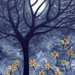"""black tree yellow flower"" by artnotnames"