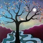 """""""tree and love bird"""" by artnotnames"""