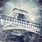"""""""Eiffel Tower with a Daguerreotype-like Treatment"""" by Linde"""