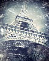 Eiffel Tower with a Daguerreotype-like Treatment
