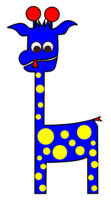 Tall Charlie blue and yellow spots Brand LONVIG by