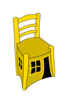 Vincents Chair as a Playhouse