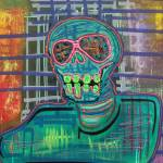 """Psychedelic Skull"" by ArtPrints"