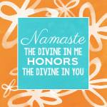 """""""Namaste with flowers"""" by lindawoods"""