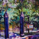 """Jackson Square Gate"" by neworleansartist"