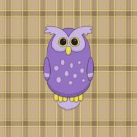 Owl in Purple