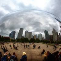 """The Bean  Cloud Gate Chicago"" by Wayne Moran"
