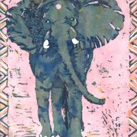 Elephant 2 Art Prints & Posters by Katie Art