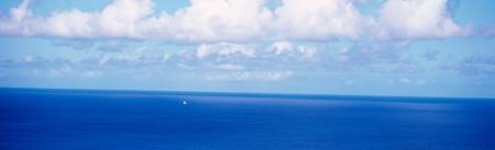 Ocean w/sailboat N side Tortola British Virgin Isl