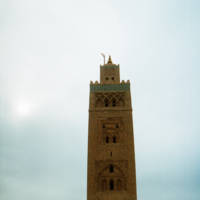 """Courtyard of the Koutoubia Mosque Marrakesh Mor"" by Panoramic Images"