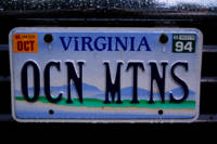 OCN MTNS Virginia Vanity License Plate