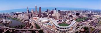 Aerial Jacobs Field Cleveland OH