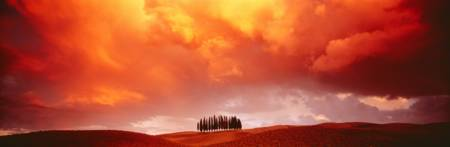 Sunset Tuscany Val d'Orcia Italy