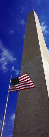 Low angle view of an obelisk Washington Monument W