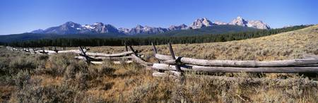 Fence Sawtooth Mountains ID