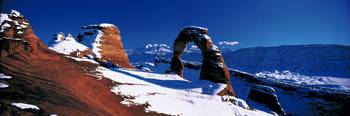 USA Utah Delicate Arch winter