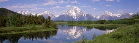 Mount Moran Snake River Oxbow Bend Grand Teton Na
