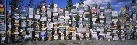 Watson Lakes Sign Forest Yukon Territory Canada