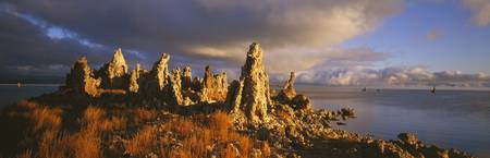 Wide angle view of Mono Lake