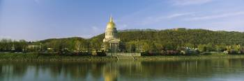 Capital Building Kanawha River Charleston WV