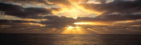 Sunset Sub Antarctic Australia