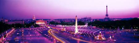 Dusk Place de la Concorde Paris France