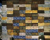 Wall of Old License Platess