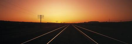 Sunset Railroad Tracks Daggett CA